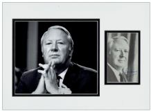Edward Heath Autograph Signed Display